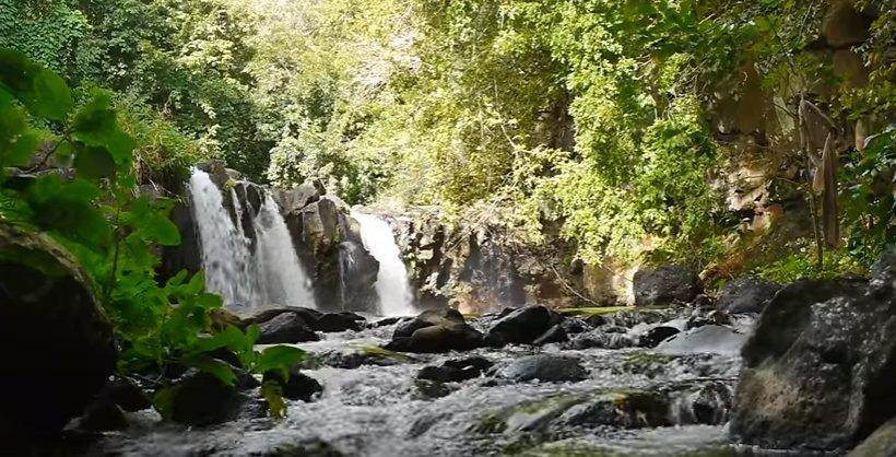 Waterfall in Eureka House surrounding