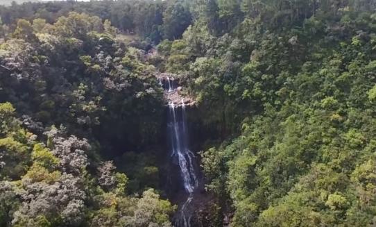 Aerial view of Alexandra Falls Mauritius