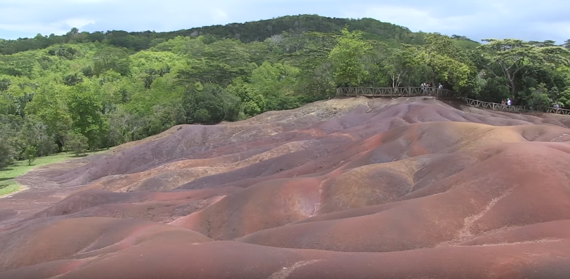 Aerial View of Chamarel 7 coloured earth